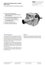 Draw-wire displacement converter SWF - 1