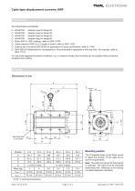 Draw-wire displacement converter SWF - 3