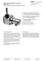 Draw-wire displacement converter SWH - 1