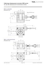 Draw-wire displacement converter SWH - 5