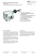 Draw-wire linear transducer SWM - 1