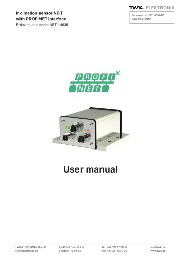 Inclination sensor NBT manual