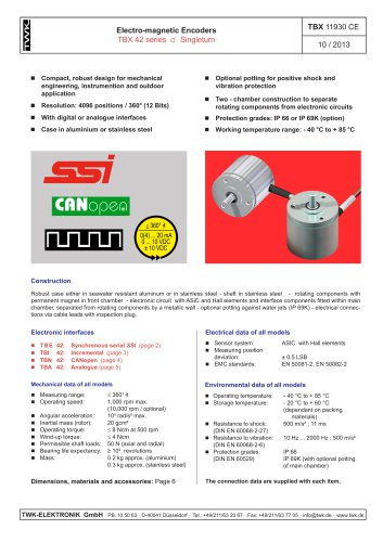 Incremental encoder TBI42