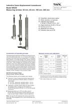 Inductive linear displacement transducers IW250 - 1
