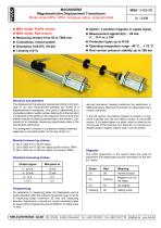 Magnetostrictive displacement transducer MPA - 1