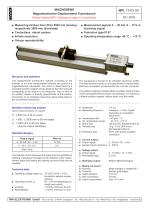 Magnetostrictive displacement transducer MPL - 1