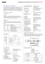 Magnetostrictive displacement transducer MPN - 2