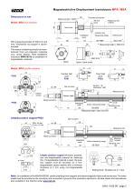 Magnetostrictive displacement transducer MSA - 3