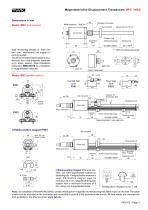 Magnetostrictive displacement transducer MSC - 3