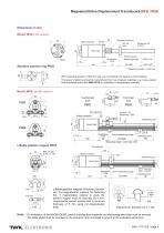 Magnetostrictive displacement transducer MSK - 4