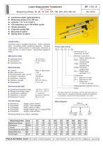 Potentiometric displacement transducer RP13 - 1