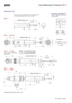 Potentiometric displacement transducer RP13 - 2