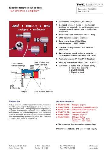 Rotary encoder TBB50