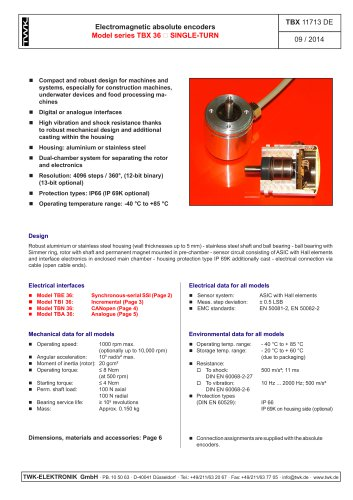 Rotary encoder TBE36