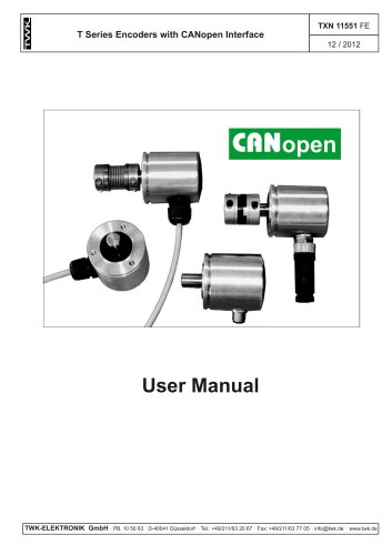 Rotary encoder TMN42 manual