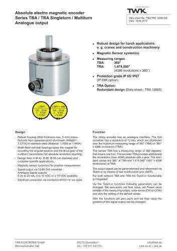 Rotary encoder TRA42