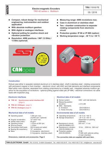 Rotary encoder TRE42