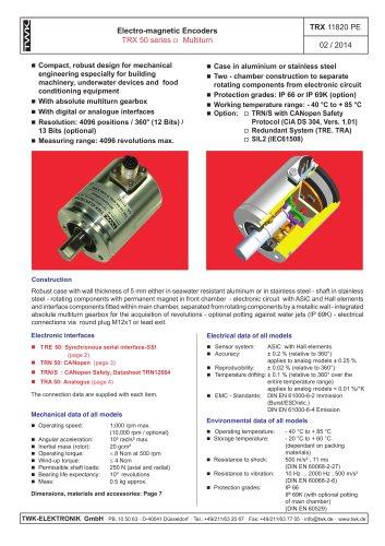 Rotary encoder TRE50