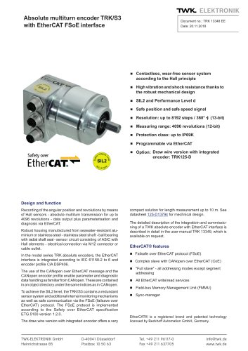 Rotary encoder TRK/S3 SIL2