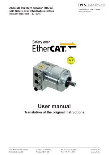 Rotary encoder TRK/S3 SIL2 manual