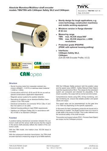 Rotary encoder TRN42/C3