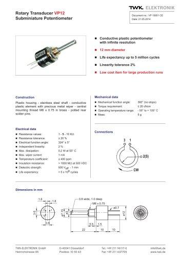 Rotary transducer VP12
