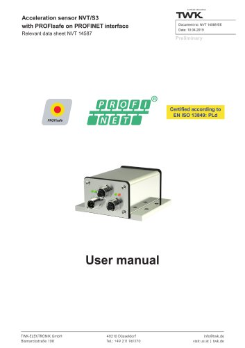 Vibration sensor NVT/S3 PLd manual