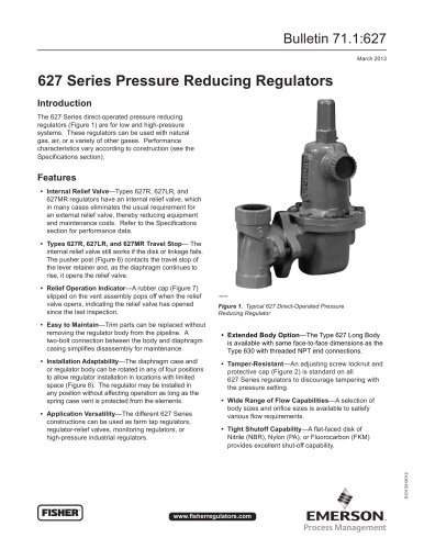 627 Series Pressure Reducing Regulators - FISHER REGULATORS