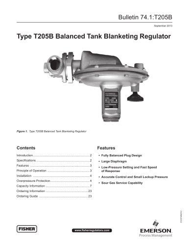 T205B Balanced Tank Blanketing Regulator - FISHER REGULATORS