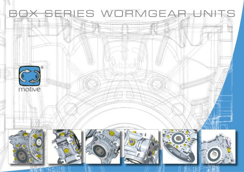 BOX Series Worm Gear Units - catalogue