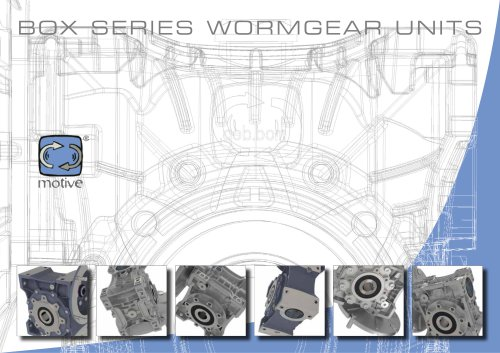 BOX worm gearboxes and STADIO pre-stages