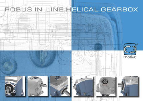 ROBUS - in-line helical gearboxes, with a capacity of up to 4300Nm
