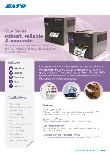 CL6e | Industrial Thermal Printers