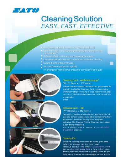 Cleaning Solution EASY. FAST. EFFECTIVE