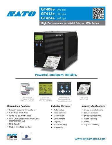 GTe Industrial Thermal Printers