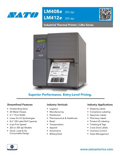 LM4e |  Entry Level Industrial Thermal Printers