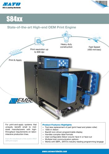 S84 (OEM Print Engine) printer