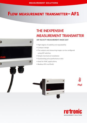 Flow Measurement Transmitter - AF1