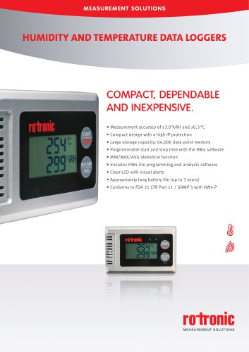 HL-1D - Humidity and Temperature Data Logger