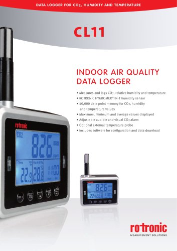 Indoo air quality data logger CL11
