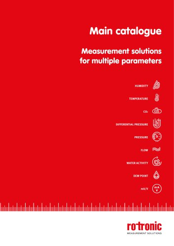 Main catalogue - Measurement solutions for multiple parameters