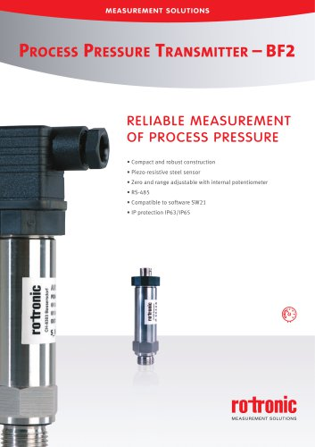 Process Pressure Transmitter - BF2
