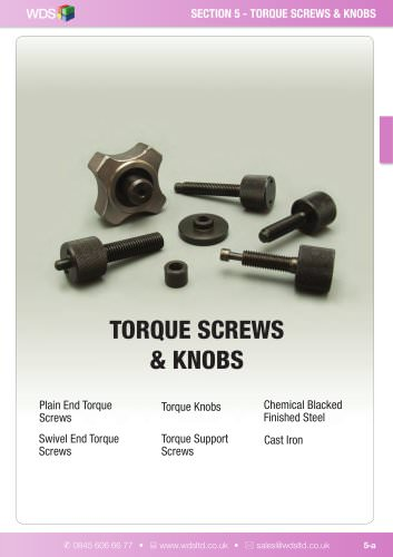 WDS Torque Screws & Knobs