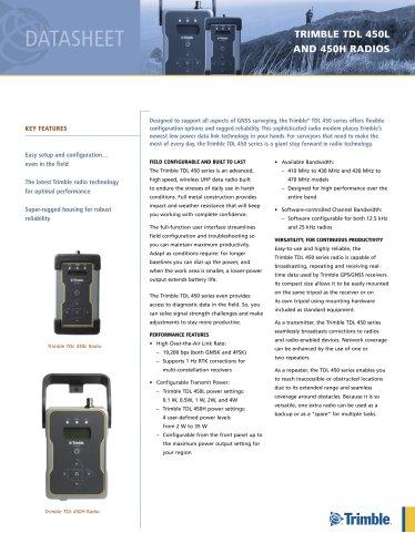 TDL 450L and TDL 450H Radio - English