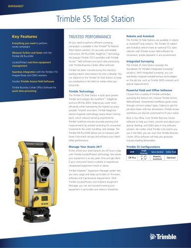 Trimble S5 Total Station - Trimble - PDF Catalogs | Technical