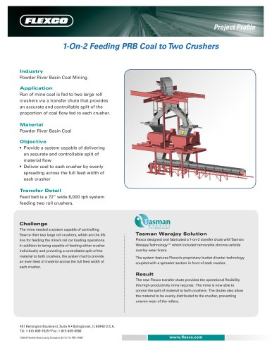 1-On-2 Feeding PRB Coal to Two Crushers