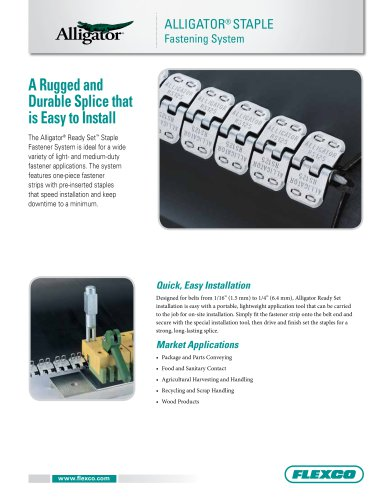 Alligator® Ready Set? Staple Fastener System