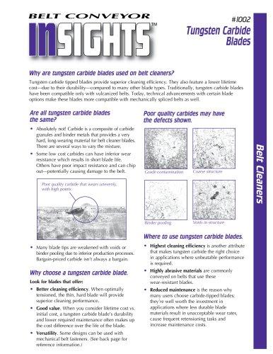 Belt Conveyor Insights #1002 - Tungsten Carbide Blades