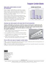 Belt Conveyor Insights #1002 - Tungsten Carbide Blades - 2