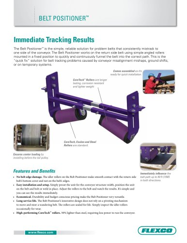 Belt Positioner Literature